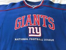 NEW YORK GIANTS PULLOVER FLEECE SHIRT N F L FOOTBALL NY