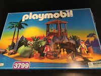 PLAYMOBIL pirate Desert Island 3799 Turtle Cove pirates opened boxed sealed bags