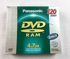Panasonic DVD-RAM 4.7 Gig 3 Pack 120 Minutes LM-AF120u3