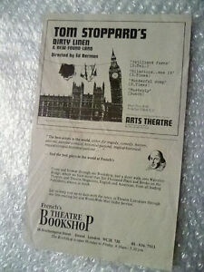 Flyer- Arts Theatre Flyer- Tom Stoppard's Darty Linen & New Found Land