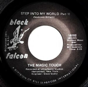 MAGIC TOUCH Step Into My World VINYL 45 Modern Soul Sweet Black Falcon Record NM