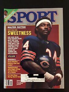"Vintage Sport Magazine Oct 1984 - ""Sweetness""- Walter Payton- Chicago Bears -HOF"