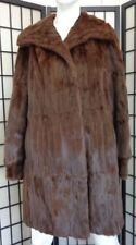 EXCELLENT NATURAL BROWN SQUIRREL FUR COAT JACKET WOMEN WOMAN SIZE 6-8 SMALL