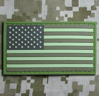 USA US FLAG RUBBER PVC TACTICAL ISAF ARMY MORALE MILSPEC DESERT VELCRO PATCH