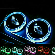 2pcs Colorful Led Car Cup Holder Bottom Pad Mat Auto Atmosphere Fit For BMW MINI