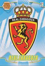 N°343 ESCUDO BADGE LOGO # REAL ZARAGOZA CARD PANINI MEGA CRACKS LIGA 2012