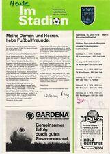 Kopie Stadionheft SSV Ulm 1846 - FC Bayern München , 14.07.1979 ,
