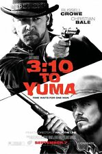 3:10 TO YUMA MOVIE POSTER DS FINAL ORIGINAL 27x40 CHRISTIAN BALE RUSSELL CROWE