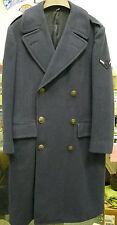 Us Air Force Vintage Long Coat Wool Overcoat 1949 Blue 85 28 Oz. Rank Airman