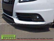 P Type Carbon Fiber Front Bumper Lip Fits For 2009-2011 Audi S4 B8 Pre Facelift