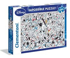 NEW! Clementoni Impossible 101 Dalmatians 1000 piece disney jigsaw puzzle