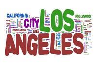 Los Angeles California Illustration Art Print Mural Poster 36x54 inch