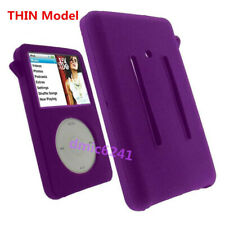 Purple Rubber Silicone Skin Cover Case For iPod Classic Video 5 5.5th 30GB