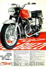 1967 Moto Guzzi V7 700cc Twin motorcycle print poster ca 8 x 10 print prent