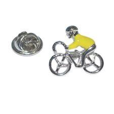 Cyclist yellow Jersey Tour de France, Bike Pin Badge Tie Pin / Hat / Lapel Badge