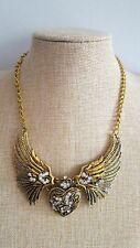 Antiqued Bronze Angel Heart Bohemian Boho Chic Necklace
