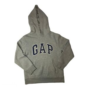 GAP Kids Hoodie Long Sleeve Grey Navy Blue Kids Size Medium (8-9yrs)