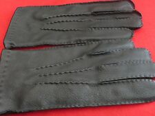 Nice Pair Of Mens Black Leather Gloves - Size Large