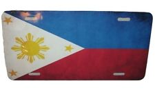Philippines National Flag License Plate 6 X 12 Inches Aluminum New
