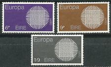 IRLANDA EUROPA cept 1970 Sin Fijasellos MNH