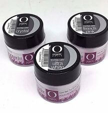 Organic Nails Polvo Acrilico Extra Dry Set of 3. Coleccion de 3 Botes 7g c/u