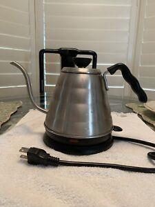 Hario Gooseneck Coffee Kettle 'Buono', Electric, 800ml, Stainless Steel, Silver