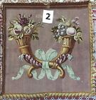"ANTIQUE 18C AUBUSSON FRENCH HAND WOVEN SILK TAPESTRY CUSHION 24"" By 24"""