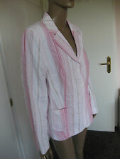 La Strada zauberhafter Blazer 44 rosa/weiß gestreift