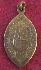 Antique Catholic Religious Holy Medal - SANCTUAIRE DE N D DE LOURDES OOSTACKER