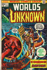 Worlds Unknown #1 - US Space Capsule & Martians - (Grade 7.0) 1973