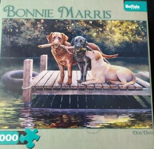 Buffalo Games Bonnie Marris, Dog Days,  Jigsaw Puzzle 1000 Piece with poster