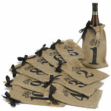 Table Numbers Wedding 1-10 Burlap Rustic Standing Reception Decorations Signs