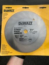"Five (5) DeWalt 7-1/4"" 140T Industrial Grade Steel Circular Saw Blades - NIP"