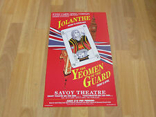 D'oyly Carte Opera Company IOLANTHE & Yeoman of the Guard SAVOY Theatre Poster