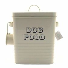 Lesser and Pavey 20cm Home Sweet Home Dog Food Storage Container, Cream