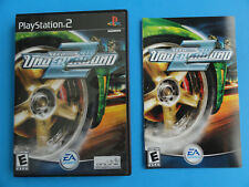 NO GAME- PLAYSTATION 2 NEED FOR SPEED 2 UNDERGROUND- CASE& MANUAL ONLY -NO GAME