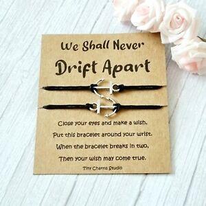 Set Of 2 Long Distance Relationship Wish Bracelets Going Away Gift Best Friend