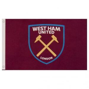 West Ham United FC Official Crested Large Flag  (5ft x 3ft) Present The Hammers