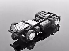H0 HERPA 777099 Scania Solo Tractor Chassis, Low Liner, Black 1/87 Scale