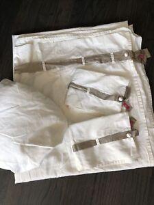 Gorgeous ANN GISH Silk Stripe sheet set 4pc Queen