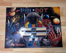 Williams Pinbot PIN * BOT Arcade Pinball Machine Translite