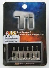 "KTS Titanium Bridge Saddles For 2 1/16"" String Spaced Bridges Only~JP~PR-17~New"