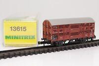 Trix Minitrix 13615 Spur N Viehtransportwagen Güterwagen in OVP