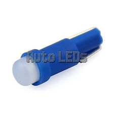 1 Blue COB LED T5 Wedge 12v Interior LED Bulb