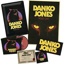DANKO JONES Wild Cat cd  box set w/ metal plate patch bumper sticker and more