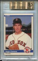 1984 Fleer Update Baseball #U27 Roger Clemens Rookie Card XRC Graded BGS 9.5