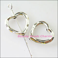 16 New Charms Heart Spacer Beads Frame 13.5mm Tibetan Silver Tone