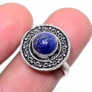 Lapis Lazuli Gemstone 925 Sterling Silver Jewelry Ring s.Ad LR-7549