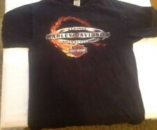 Genuine HARLEY-DAVIDSON Motorcycles BLACK T-SHIRT Large  Knoxville,TN Flame