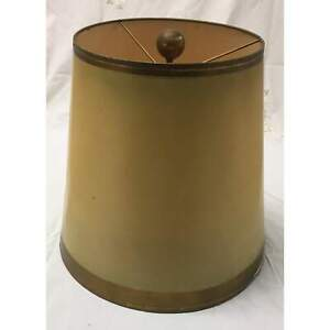 Vintage Tapered Drum Gold Lampshade with Gold Trim | Medium